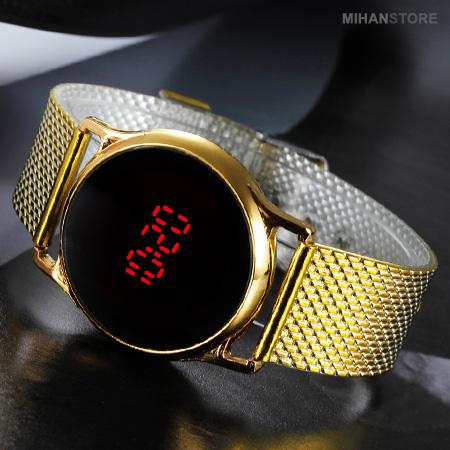 خرید ویژه ساعت LED صفحه لمسی طرح Swarovski
