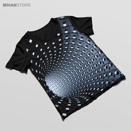 فروش تی شرت سه بعدی Tunnel